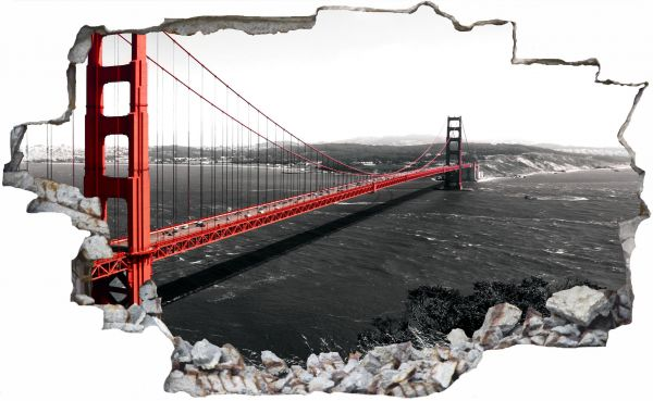 Golden Gate Bridge Brücke Wandtattoo Wandsticker Wandaufkleber C0755