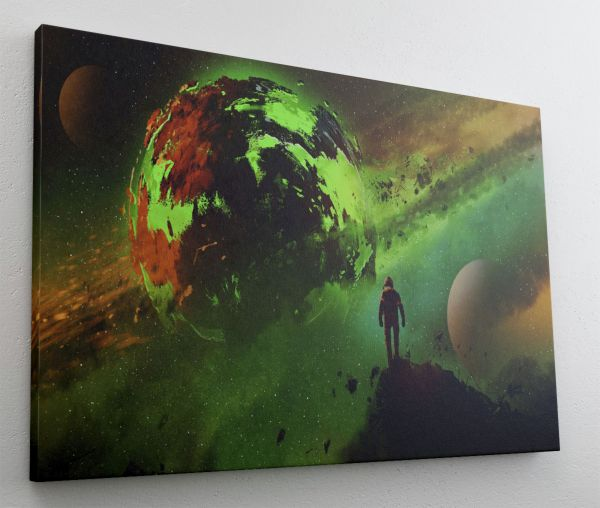 Fantasy Astronaut Planet Leinwand Canvas-Bild L1961