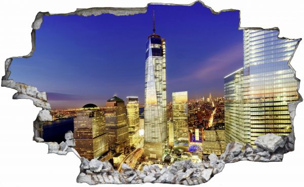 New York Skyline USA Wandtattoo C0004